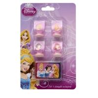 Set 4 stampile cu tusiera Princess