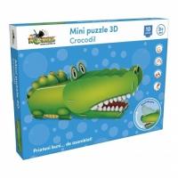 Mini Puzzle 3D NORIEL - Crocodil (10 piese)