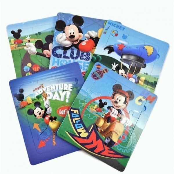 Puzzle burete Mickey - 5 x puzzle ( 9 piese fiecare)