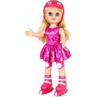 Papusa interactiva Noriel - Maia pe role cu rochita roz
