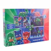Puzzle 3 in 1 PJ Masks - 172 PIESE