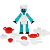 Figurina Stikbot French with Fred action pack