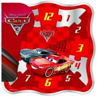 Puzzle din lemn ceas, 12 piese - Cars 3