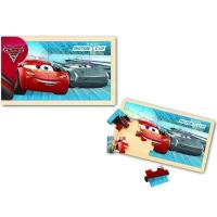 Puzzle din lemn 15 piese - Cars 3