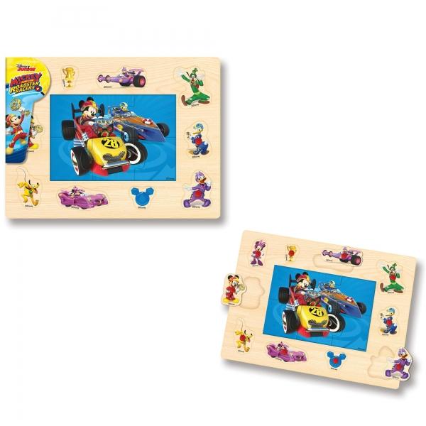 Puzzle cu tinte - Mickey si pilotii de curse