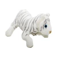Jucarie de plus tigru alb, 14 cm