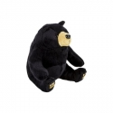 Jucarie de plus urs negru, 15 cm