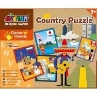Set 26 puzzle-uri creative Momki - Tari, 52 piese