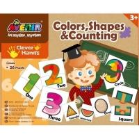 Set 26 puzzle-uri creative Momki - Culori, forme si numere