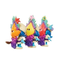Set 3 figurine Strumfii cu masca si toiag Blister Jakks