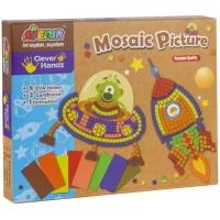 Joc creativ Momki Mozaic - Racheta si nava spatiala
