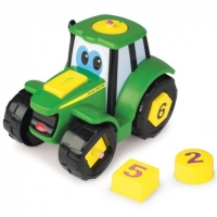 Tractoraș cu forme și cifre - John Deere