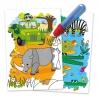 Water Magic Animals - Carte Colorat Safari
