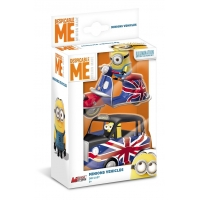 Set 2 vehicule cu figurine Minions - Scouter si Vehicul albastru