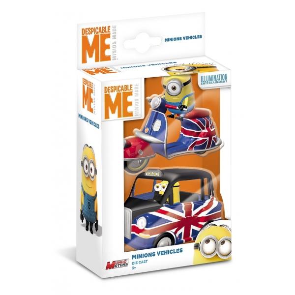 Set 2 vehicule cu figurine Minions Despicable Me - set 1