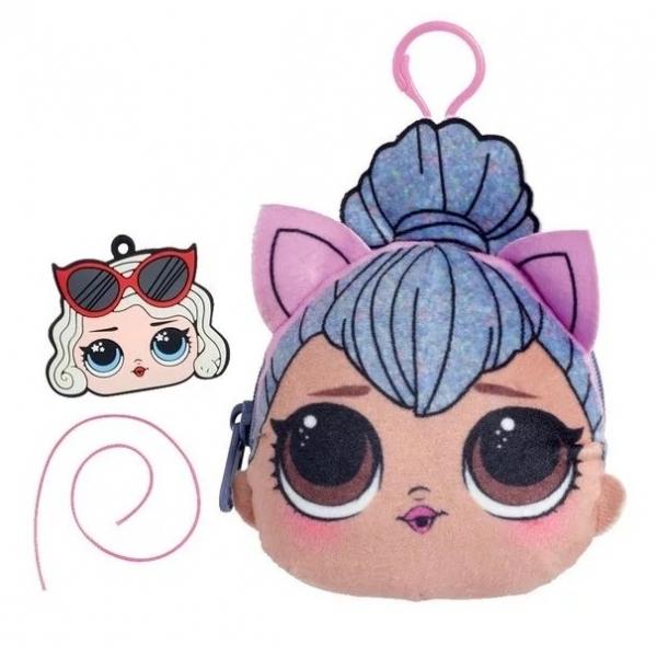 Gentuta cu fermoar LOL Squishy Plus, Kitty Queen