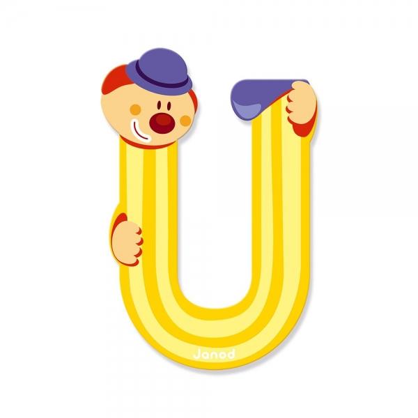 Litera U, de lemn, Janod