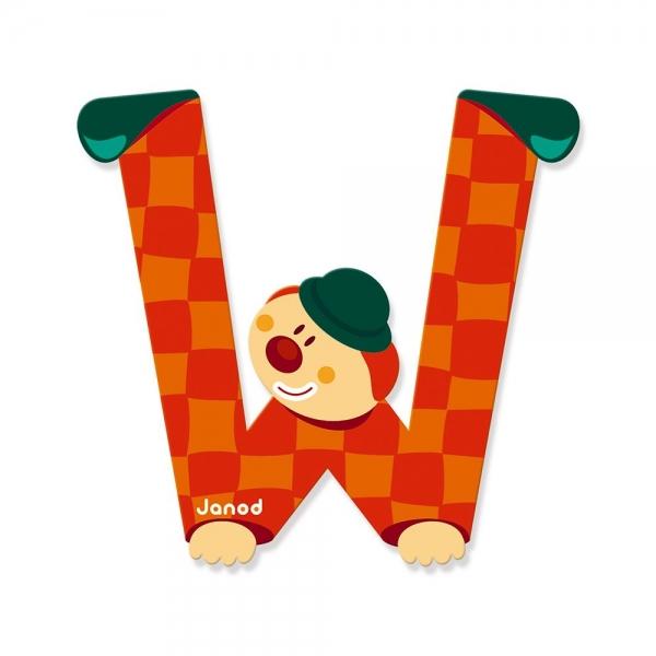 Litera W, de lemn, Janod