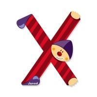 Litera X, de lemn, Janod