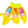 """Set 3 figurine """"Bananas"""", Seria 1 (Galben/Portocaliu/Roz)"""