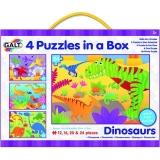 Set 4 puzzle-uri Galt - Dinozauri (12, 16, 20, 24 piese)