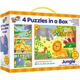 Set 4 puzzle-uri Jungla Galt (12, 16, 20, 24 piese)