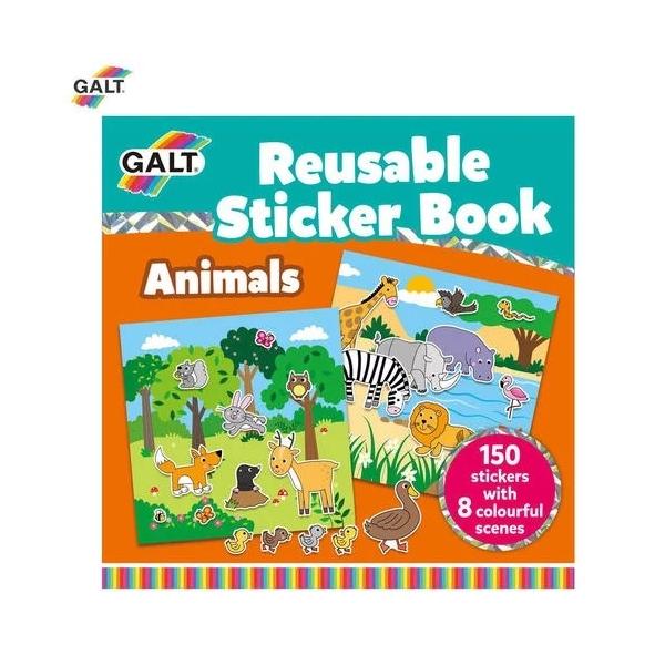 Carte cu stikere reutilizabile Galt - Animale