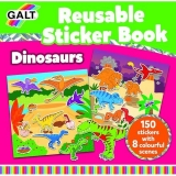 Carte cu stickere reutilizabile Galt - Dinozauri