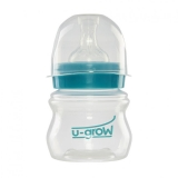 Biberon U-Grow UFB-125WN, gat larg, 125 ml