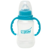 Biberon U-Grow A-1012 cu gat normal, 120 ml