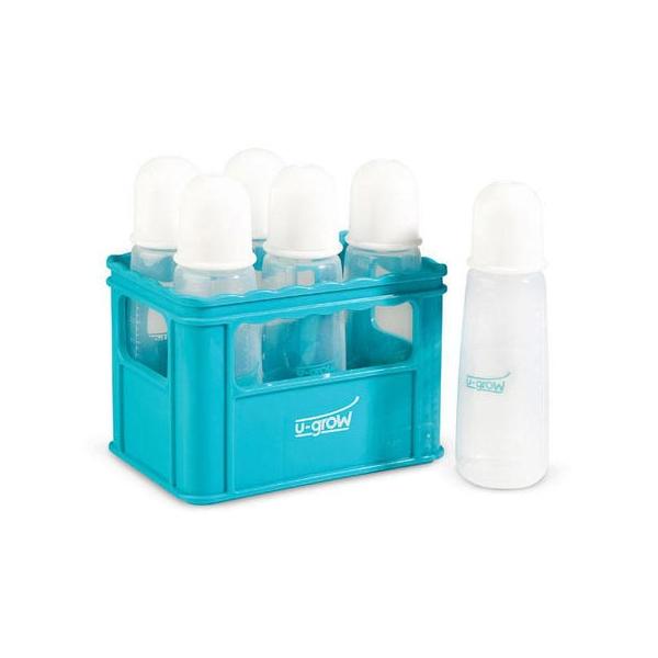U-Grow Kit 6 biberoane UG-BCRT6, 270 ml + ladita uscare