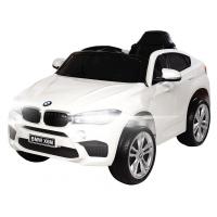 Masinuta electrica cu roti din cauciuc BMW X6M Alba