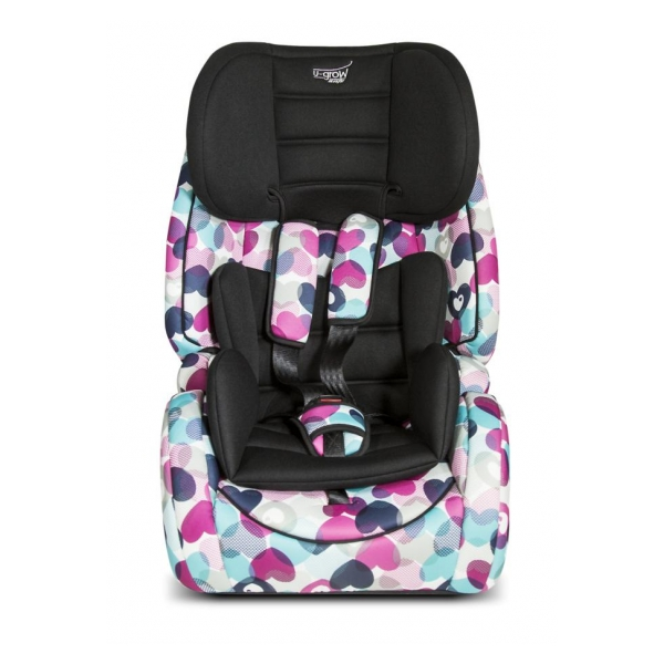 Scaun auto ISOFIX U-Grow Safety Inimioare, 9-36 kg, Multicolor