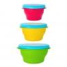 Set 3 boluri cu capac U-Grow, Multicolor