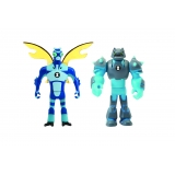 BEN 10 - Set 2 mini figurine Stinkfly si Shock Rock - 5 cm