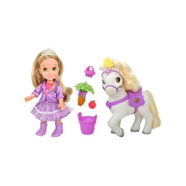 Papusa Disney Rapunzel si ponei, 15 cm