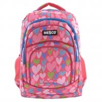 Ghiozdan Fashion Mesco 16 ''- Hearts , Pink