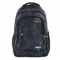 Ghiozdan Fashion Mesco 16 ''-  Urban , Black & Green