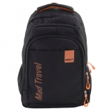 "Ghiozdan Mad Travel Mesco 16 "" - Black & Orange"