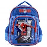 """Ghiozdan tip Rucsac pentru Adolescenti-Spiderman Albastru 14"""""""