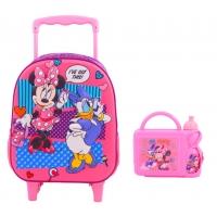 Pachet gradinita Troller Minnie Mouse + Combo set sandwish si termos