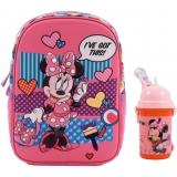 Ghiozdan gradinita Minnie Mouse + termos plastic