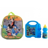 "Ghiozdan Gradinita 10""- Mickey Mouse & Friends +Combo set Mickey"