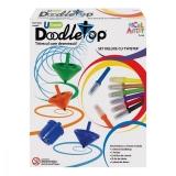 Set titirez Deluxe Doodletop cu Twister, Micul Artist