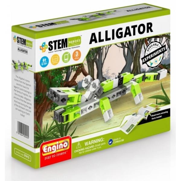 Set de constructie Engino -STEM HEROES -ANIMAL KINGDOM: ALLIGATOR