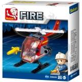 Set de constructie - Mini elicopter de interventie, 69 piese