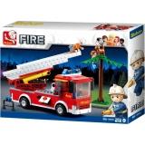 Set de constructie - Masina de pompieri cu scara , 265 piese