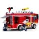 Set de constructie - Camion pompieri cu platforma si elicopter , 403