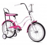 Bicicleta Pegas cu roti ajutatoare - Mezin , alb cu mov