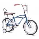 Bicicleta Pegas cu roti ajutatoare - Mezin , albastru  cobalt